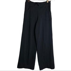 Lululemon Wide Leg Black Pant Front Pocket Size 4